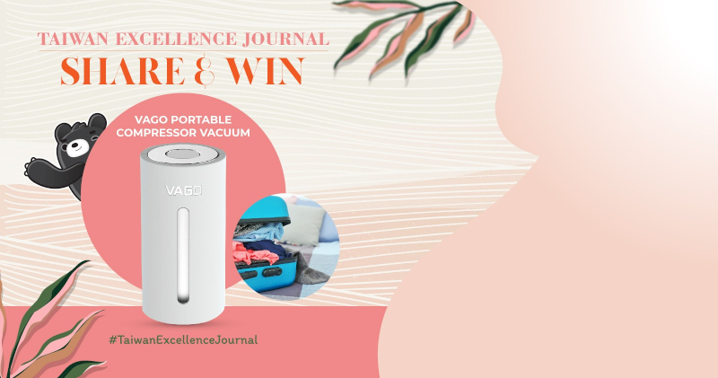 Share Taiwan Excellence Journal to Your Facebook Page and Get a Chance to Win The Prize!